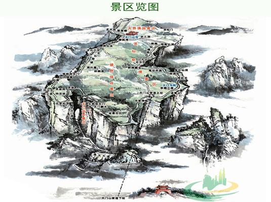 天门山景区游览图